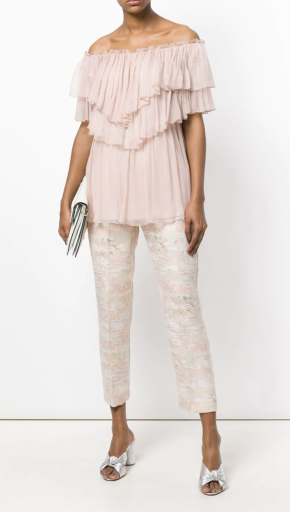 Pink and White Metallic Pants by Blugirl