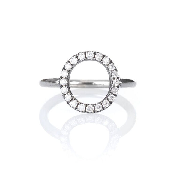 Circle-Silver-Diamond-Ring