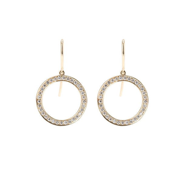 Circle-18kGold-Diamond-Earrings