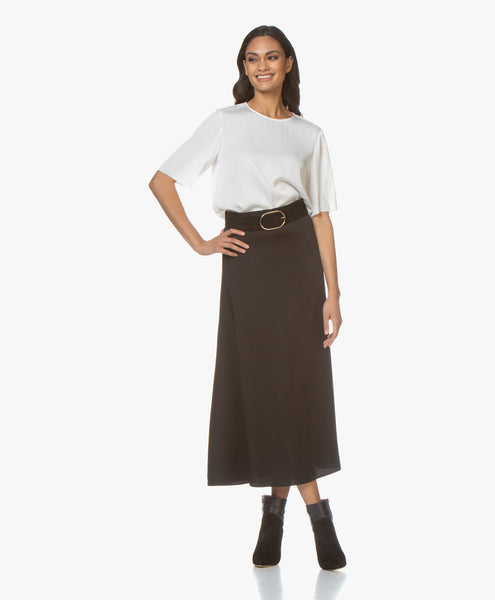 Marie Black Crepe Skirt by Vanessa Bruno