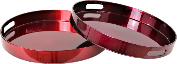 Red or Burgundy Serving Tray