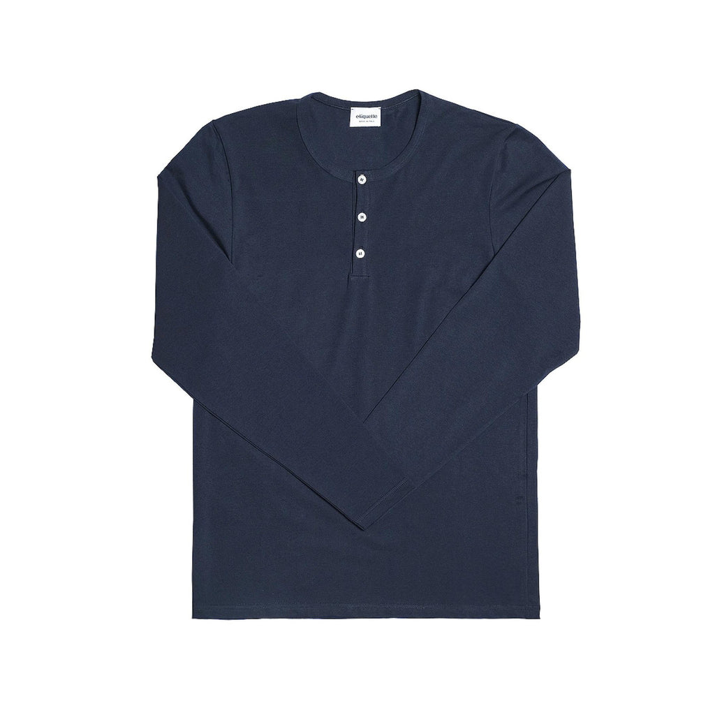 Crosby Henley Long Sleeve Tee by Etiquette - The Perfect Provenance