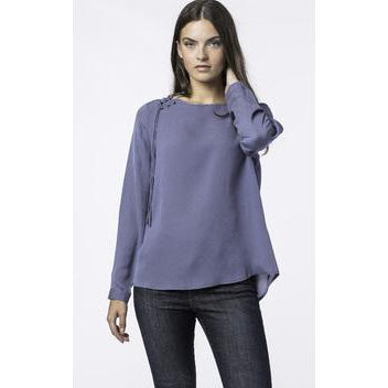 Boat Neck Blouse in Blue or Blush by Repeat Cashmere - The Perfect Provenance