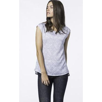 Flowy Silk Top with Ornamental Print by Repeat Cashmere - The Perfect Provenance