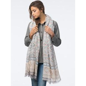 Aztec Pattern Cashmere Blend Scarf by Repeat Cashmere - The Perfect Provenance