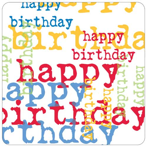 Birthday Graphic Multi Paper Plate by Paper Products - The Perfect Provenance