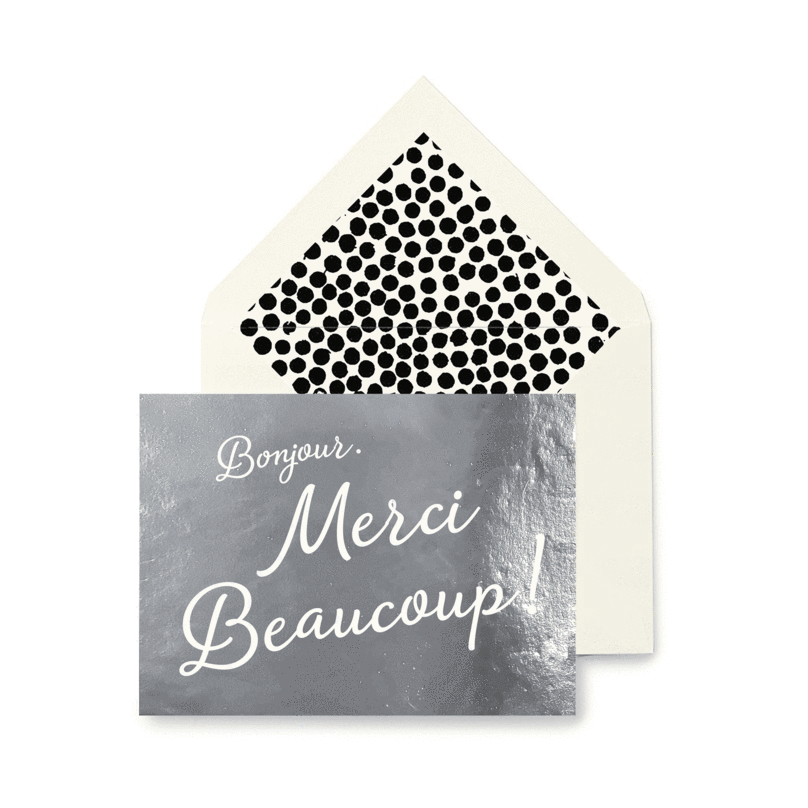 Merci Beaucoup Greeting Card - The Perfect Provenance