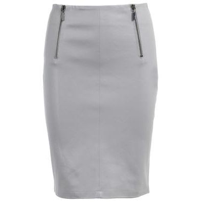Paloma Leather Pencil Grey Skirt by Max & Moi - The Perfect Provenance