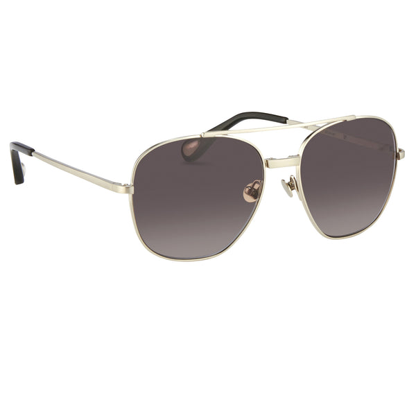 Brushed Silver/Black/Grey Sunglasses by Ann Demeulemeester - The Perfect Provenance