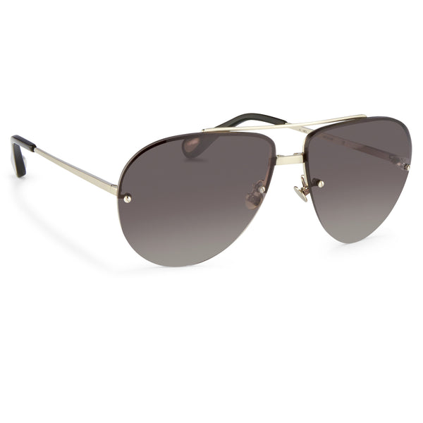 Ann Demeulemeester - Brushed Silver/ Black/ Grey Aviators