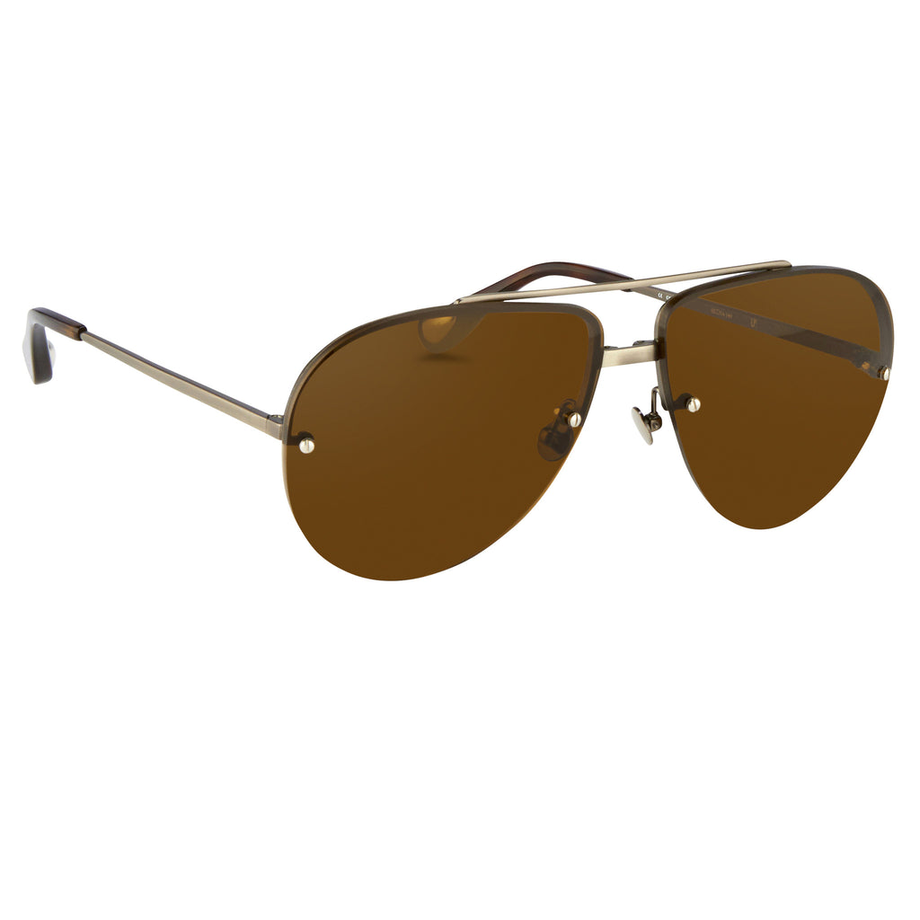 Brush Antique Silver Aviators by Ann Demeulemeester - The Perfect Provenance