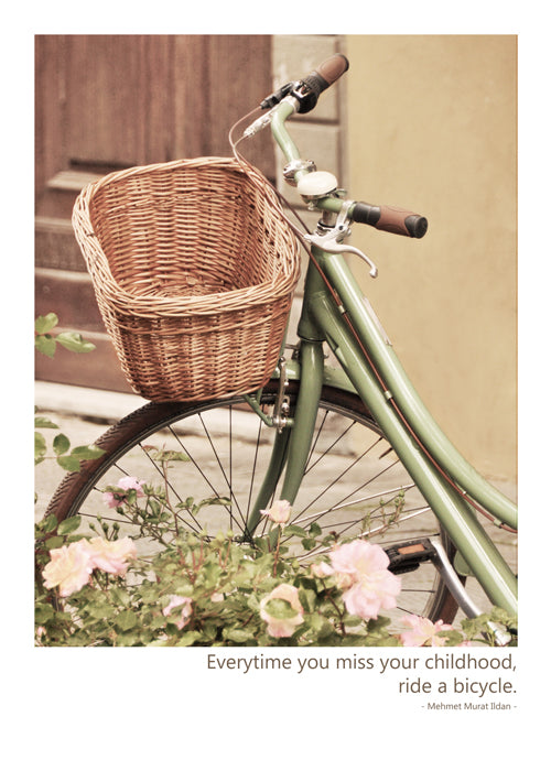 Bicycle & Basket Birthday Card by B Street - The Perfect Provenance