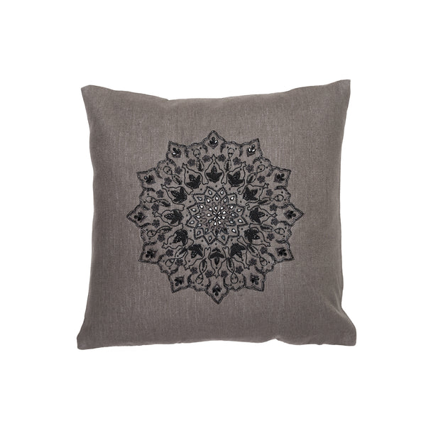Bijou Round Java Pillow by Aandaz - The Perfect Provenance