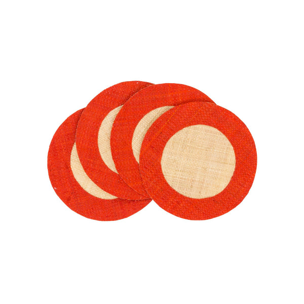 The Raffia Coaster Set of 4 by Pomegranate - The Perfect Provenance