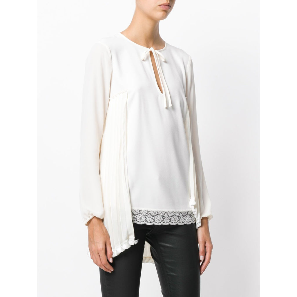 nuovo stile 003b6 8dc99 Off White Laced Blouse by Twin Set