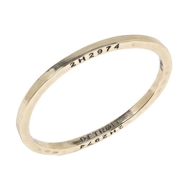 Brass Bangle by The Caliber Collection - The Perfect Provenance