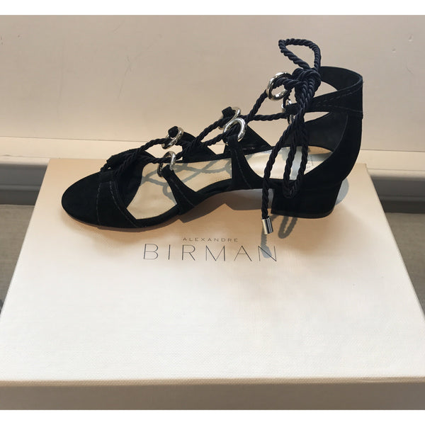 Black-suede-laceup-sandal-AlexandreBirman