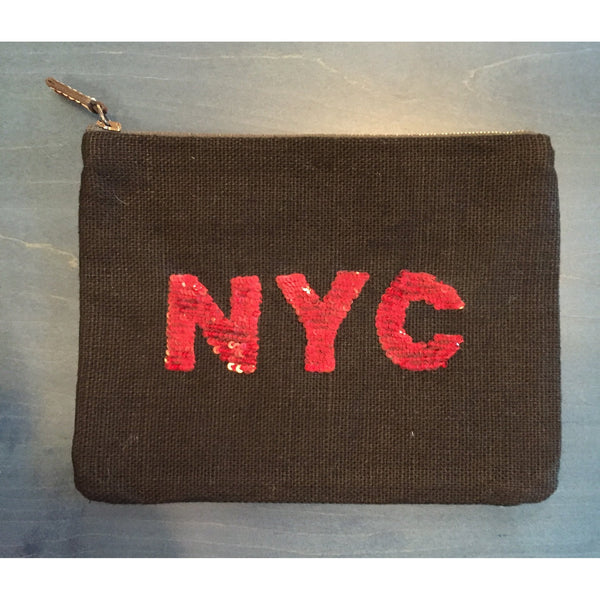 NYC-redsequins-linen-pouch-Ankasa