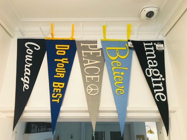Inspiring Sewn Wool Pennants by Gibbs Smith
