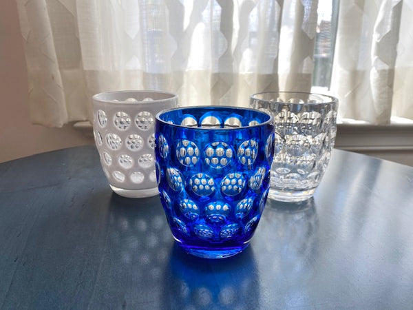 Lente Tumbler Glass in Three Colors by Mario Luca Giusti - The Perfect Provenance