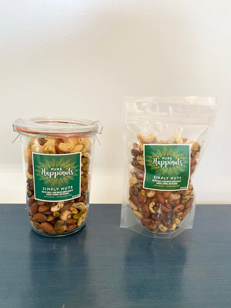 Simply Nut Mix in Two Sizes by Pure Happinuts
