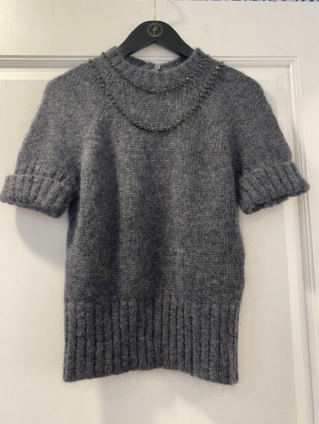 Gem Draped Knit Sweater by No.21