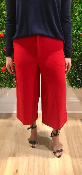 Red Cropped Pants by Les Petites - The Perfect Provenance