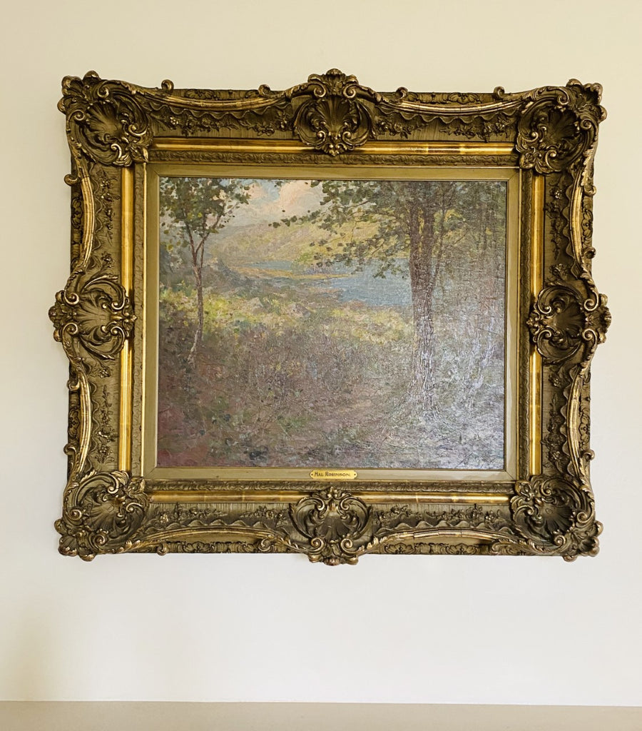Framed Impressionist Landscape Oil by Hal Robinson On Canvas Circa 1900s - The Perfect Provenance