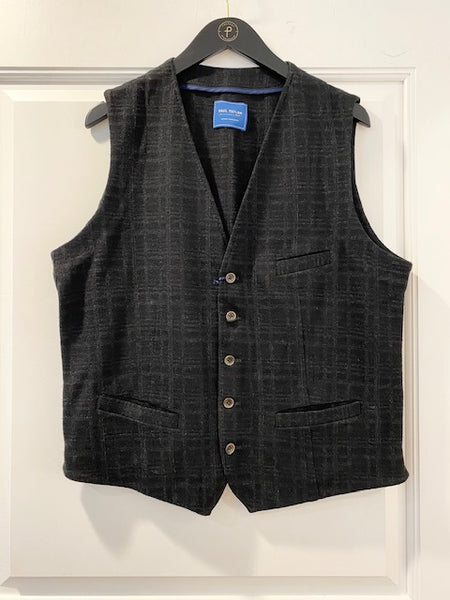 Dark Plaid Black Vest by Paul Taylor
