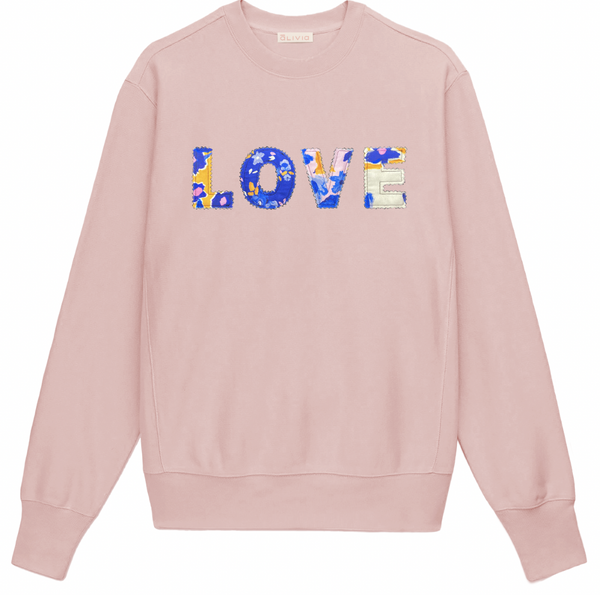 Love Sweatshirt in Pink or Ivory by Alivia