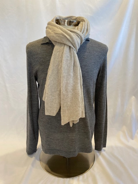 Cashmere Scarf in Beige or Black by Hartford