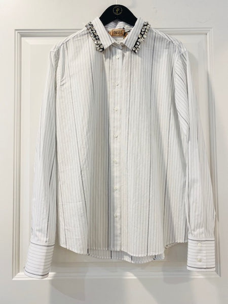 Gem Collar Dress Shirt by No.21