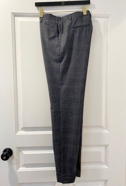 Grey and Blue Plaid Trouser by Paul Taylor