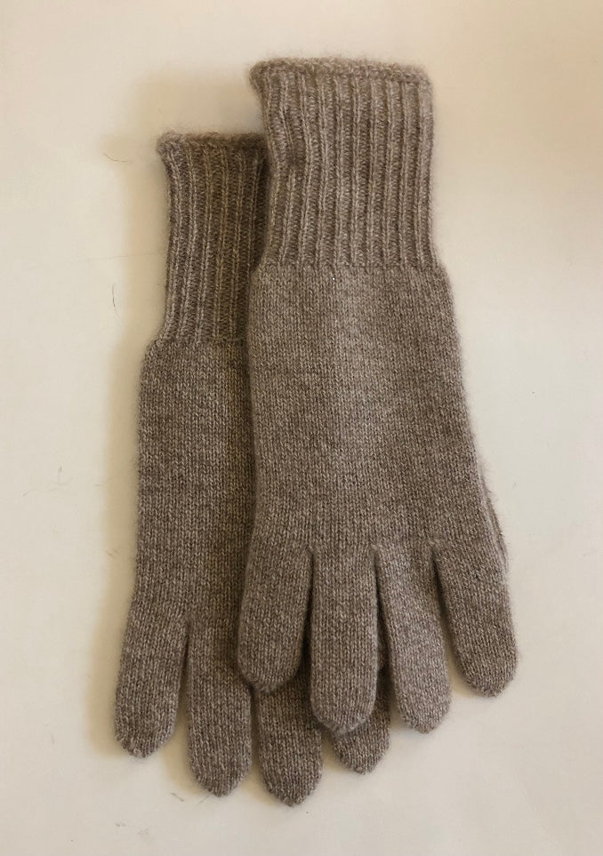 Beige Cashmere Gloves by Hatattack