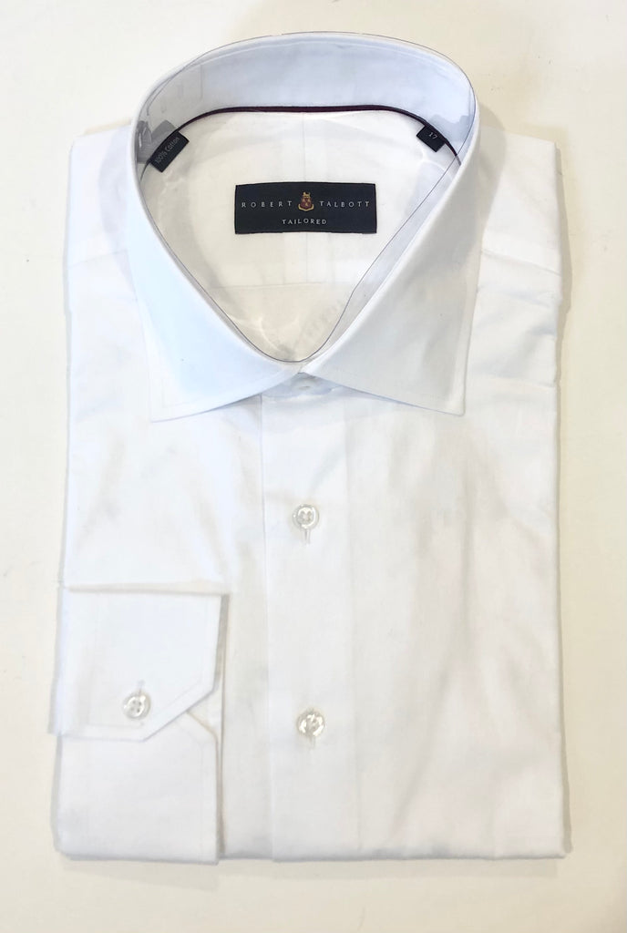 Sutter Tailored Solid White Dress Shirt by Robert Talbott