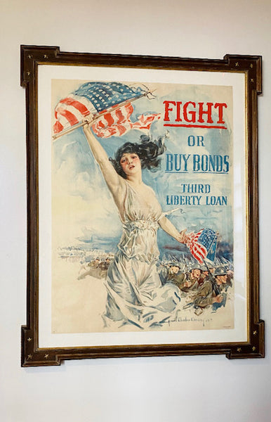 1917 Fight or Buy War Bonds Vintage Poster by Chandler Christy - The Perfect Provenance