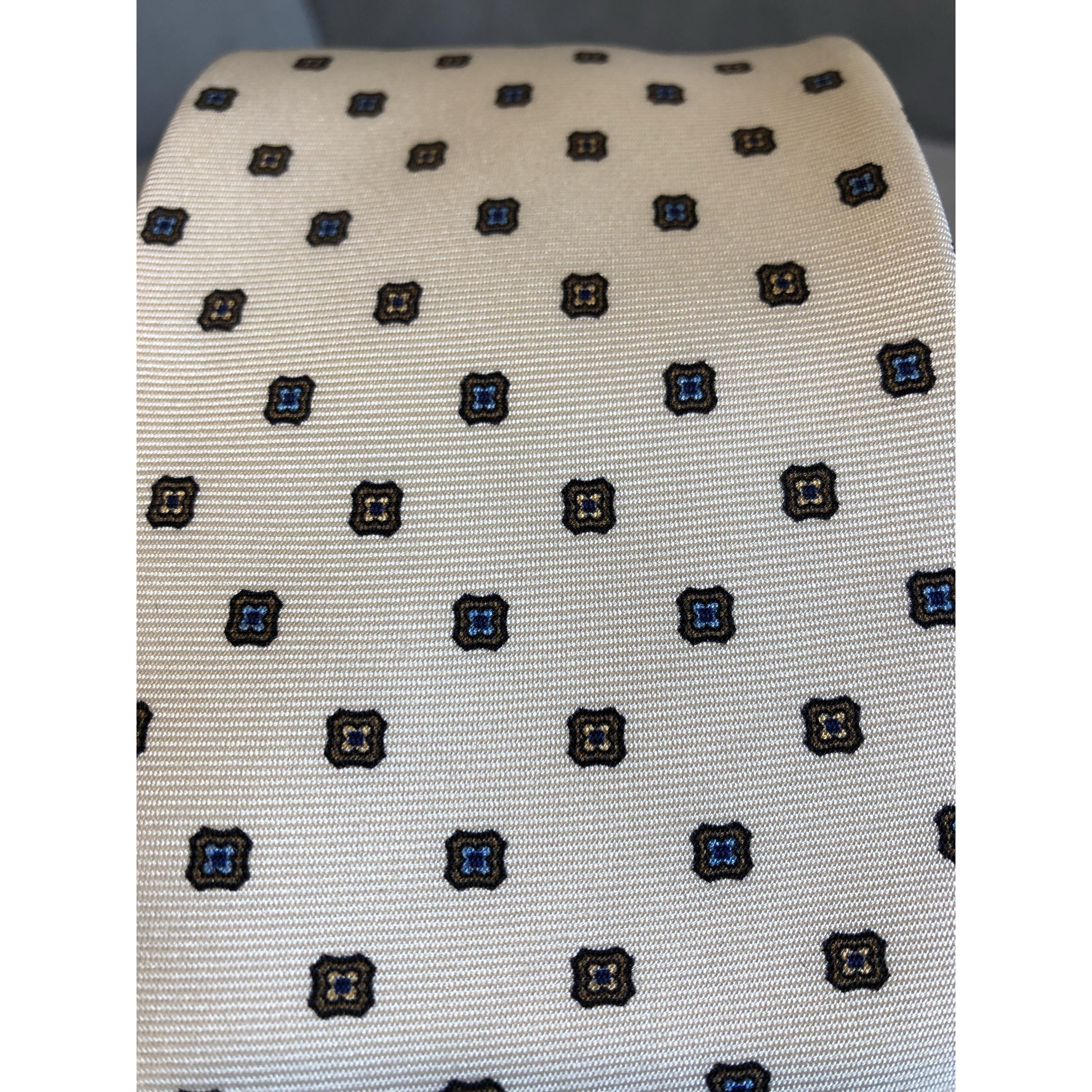 White Pattern Men's Tie by Marzullo