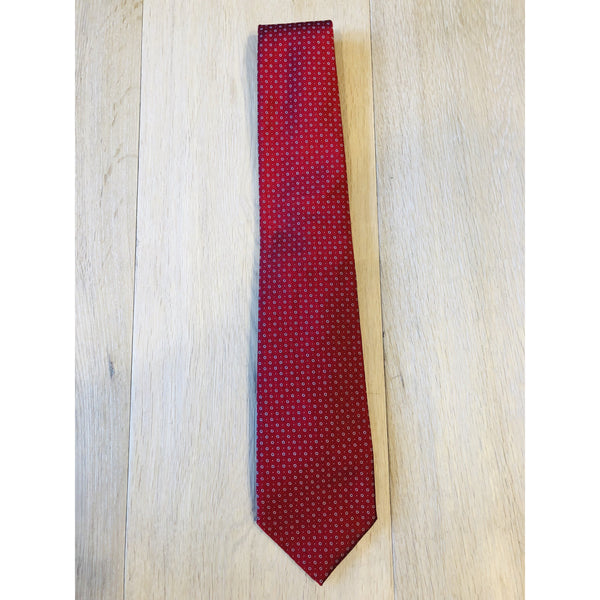 Large Print Red Libro Tie by Italian Designer Petronius - The Perfect Provenance