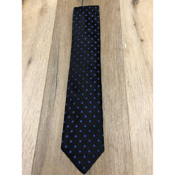 Best of Class Black Tie, Blue Flowers Pattern by Robert Talbott - The Perfect Provenance
