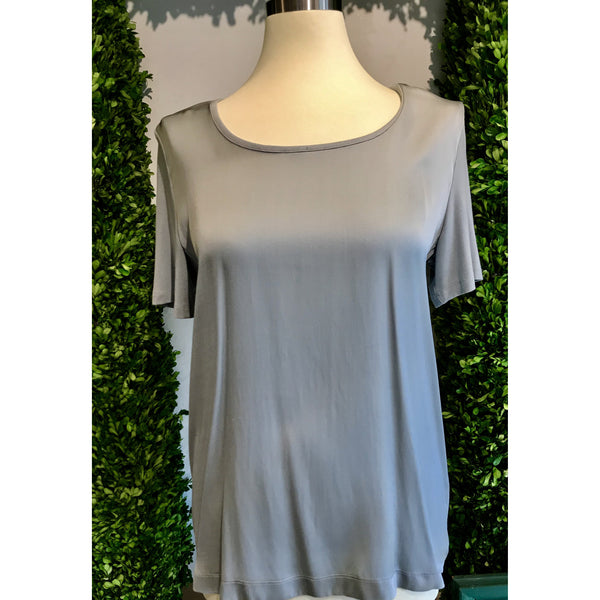 Blue  Silk Top by Repeat Cashmere - The Perfect Provenance