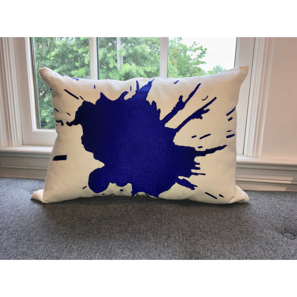 Java/Blue Burst Pillow by Aandaz - The Perfect Provenance