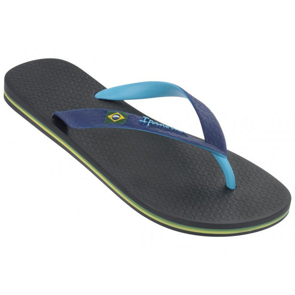 Men's Black/Blue Brazil Bi Color Flip Flops by Ipanema - The Perfect Provenance