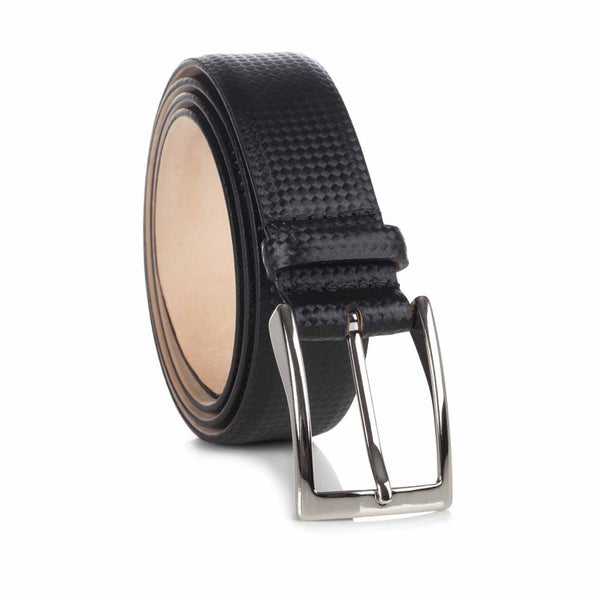 Men's Leather Belt in Black by LORIBLU