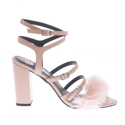 Nico Faux Fur Heel by Sol Sana - The Perfect Provenance