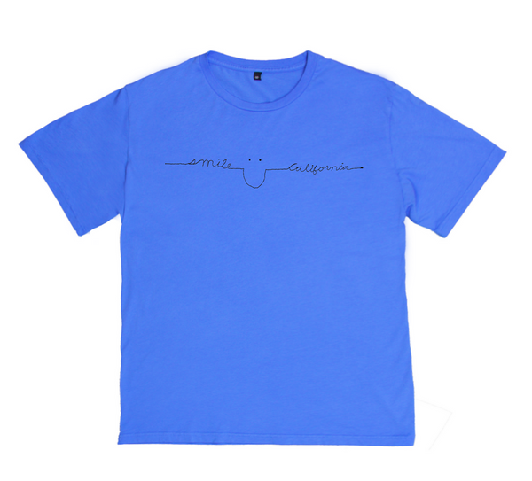 Child Smile California Cotton Tee in Ocean Blue