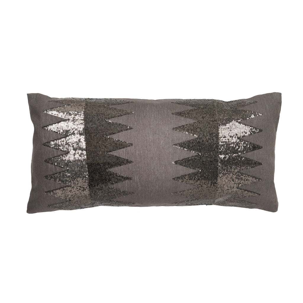 Chrysler Sequin Pillow by Aandaz