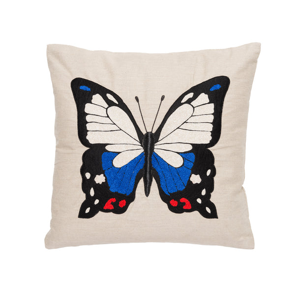 Colorful Center Butterfly Pillow by Aandaz - The Perfect Provenance