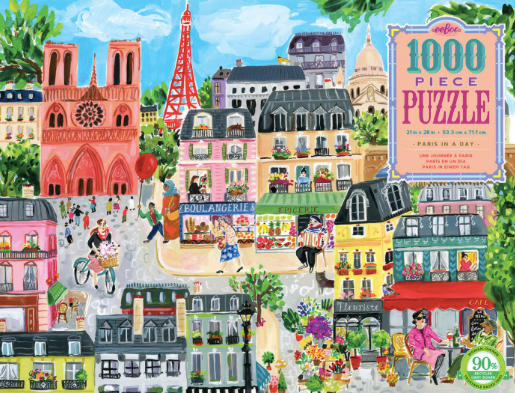 Paris in a Day - 1000pc Jigsaw Puzzle by eeBoo