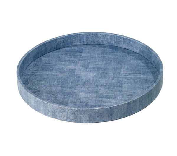 Luster Ice Blue Round Tray by Bodrum - The Perfect Provenance
