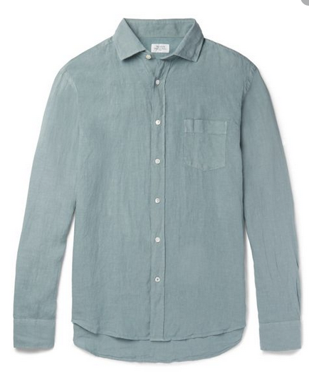 Linen Button Down in Green or Pink by Hartford - The Perfect Provenance